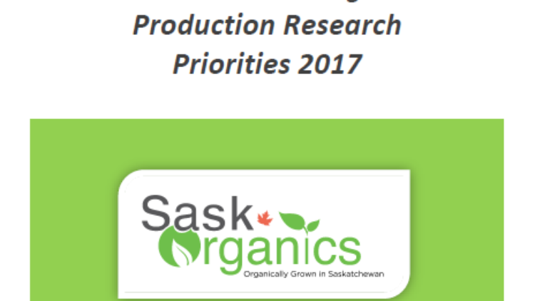 SaskOrganics Publishes 'Saskatchewan Organic Production Research Priorities 2017' Report