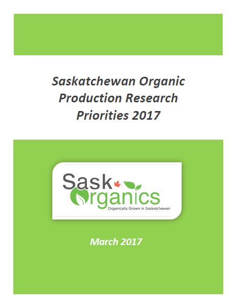 SaskOrganics Publishes 'Saskatchewan Organic Production Research Priorities 2017' Report