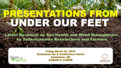 "Presentations from ""Under Our Feet"" March 23, 2018"