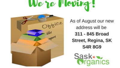 SaskOrganics Office is Moving!