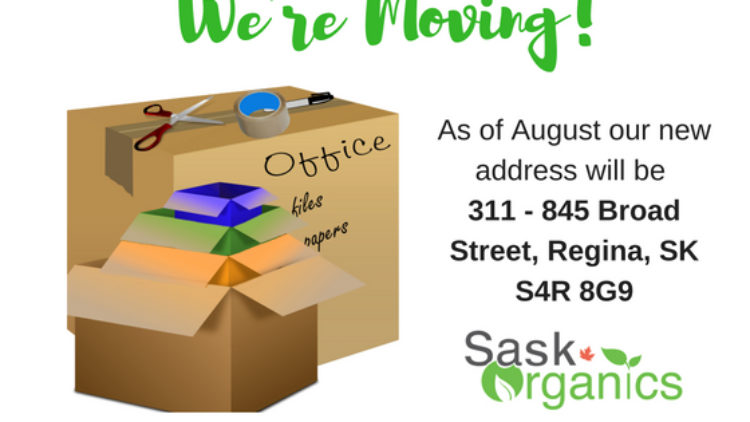 SaskOrganics Office is Moving!