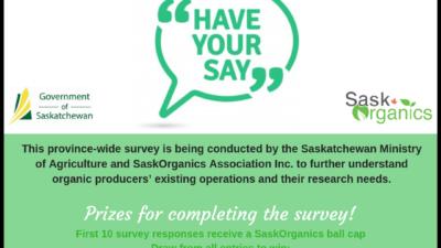 2018-19 Saskatchewan Provincial Survey of Organic Producers
