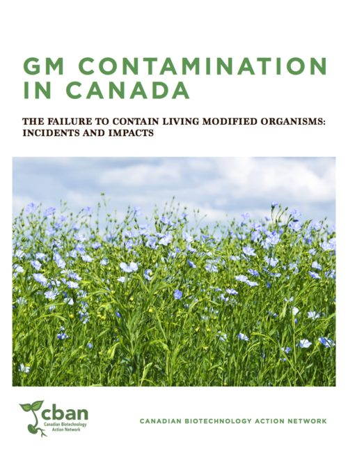 "Just Released: ""GM Contamination in Canada: The failure to contain living modified organisms-Incidents & Impacts"""